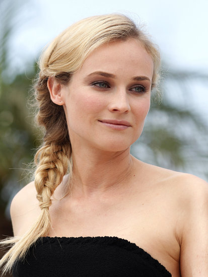 A few years later at the 2009 Cannes Film Festival, Diane did her eyes up in a neutral smoky eye, which she complemented with a polished side plait.