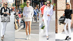 See Karolina Kurkova's Chic Black and White Off-Duty Style
