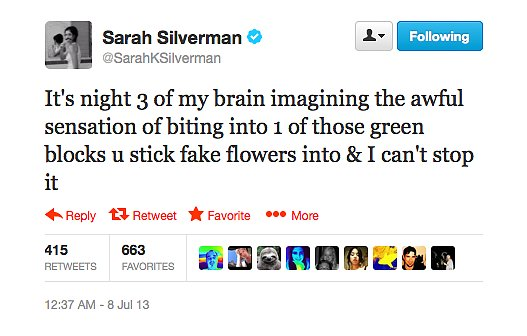 You're sending shivers down our spines, Sarah Silverman.