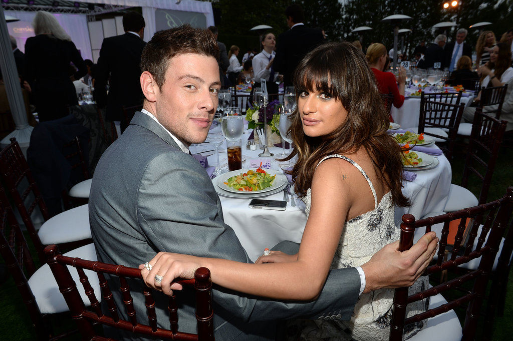 Cory Monteith and Lea Michele sat together at the Chrysalis Butterfly Ball in June 2013.