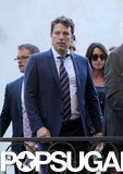 Ben Affleck wore a striped tie.