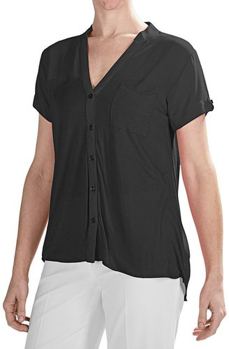 August Silk Modern Hybrid Tunic Shirt - Short Sleeve (For Women)
