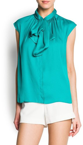 Bow crepe blouse