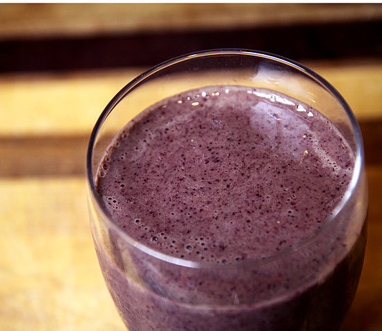 Pineapple, Kale, and Blueberry Smoothie