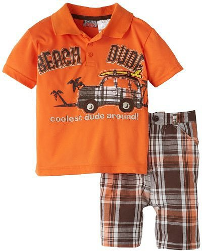 Little Rebels Boys 2-7 Two-Piece Beach Dude Set