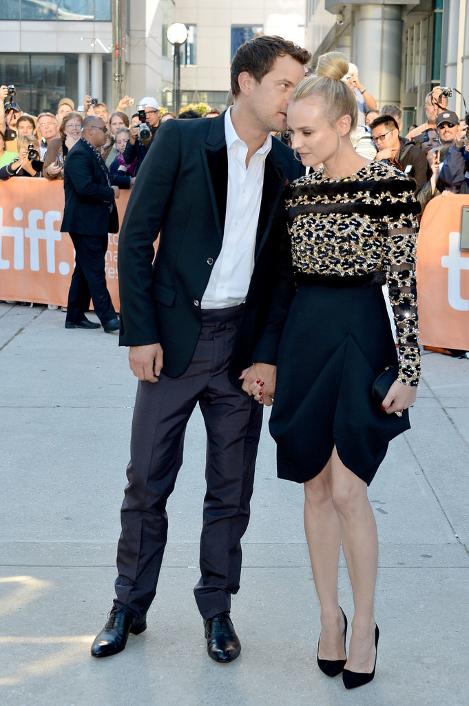 Joshua Jackson whispered something to Diane Kruger at the premiere of Inescapable at the Toronto International Film Festival in Sept. 2012.