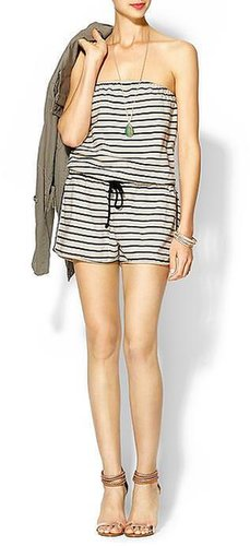 Hive & Honey Striped French Terry Romper