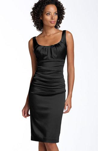 Suzi Chin for Maggy Boutique Stretch Satin Sheath Dress