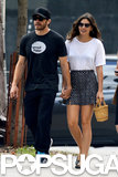 Jake Gyllenhaal held hands with girlfriend Alyssa Miller.