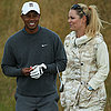 Tiger Woods and Lindsey Vonn in Scotland 2013