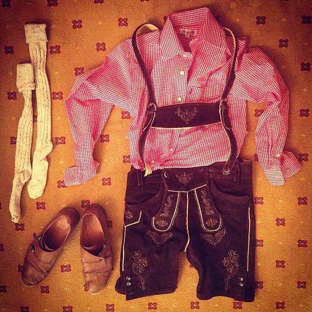 Derek Blasberg laid out festive garb for the occasion.  Source: Instagram user derekblasberg