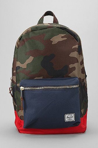 We'd add this Herschel Supply Co. Camo Colorblock Settlement Backpack ($64) to our off-duty cutoffs and t-shirts to amp things up a bit.