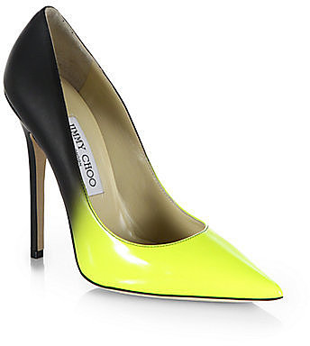 Jimmy Choo Anouk Leather Degrade Pumps