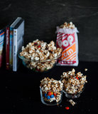 Spicy Gooey M&M's and Almond Popcorn