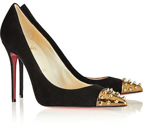 Christian Louboutin Geo 100 studded suede pumps