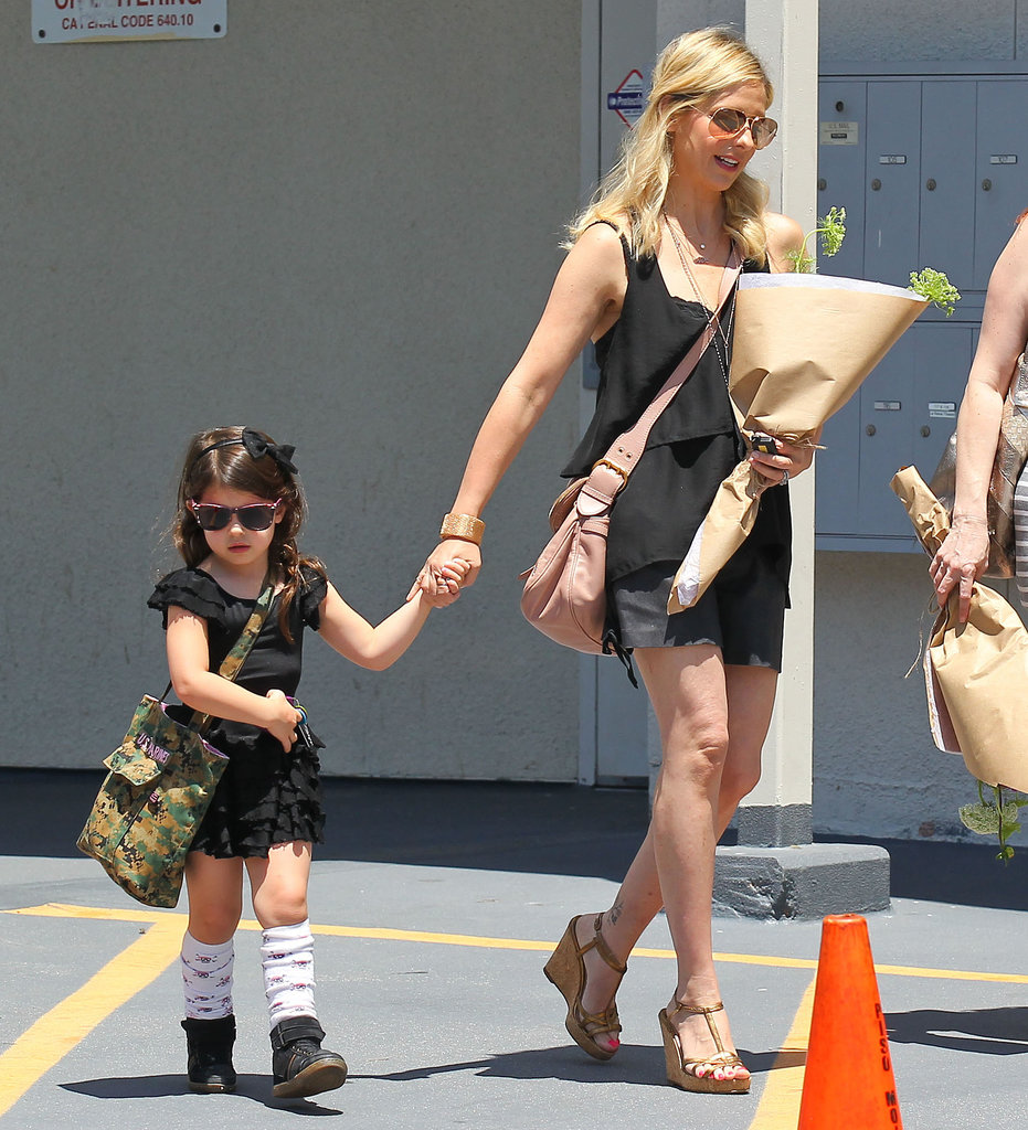 Sarah Michelle Gellar picked up her daughter, Charlotte, from ballet class in LA.