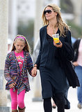 Heidi Klum went to breakfast in Santa Monica, CA, with her family on Saturday.