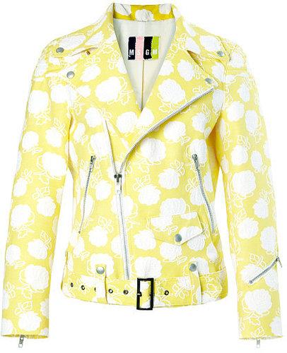 Preorder MSGM Rose Jacquard Biker Jacket