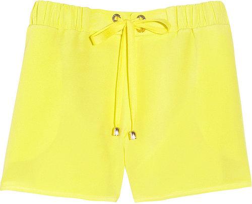 Mulberry Eyelet silk shorts