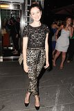 At the afterparty for Girl Most Likely, Nora Zehetner looked lovely in lace.