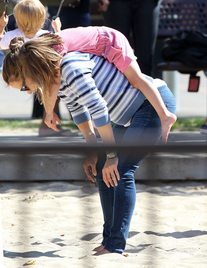 Jennifer Garner played around with Seraphina.