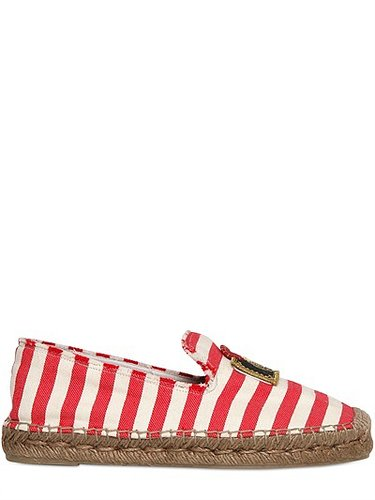 20mm Striped Cotton And Rope Flats