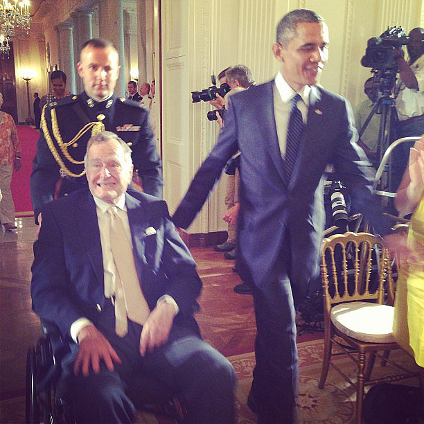 Lauren Bush Lauren was on hand to honor her grandfather along with President Obama at the White House. Source: Instagram user laurenbushlauren