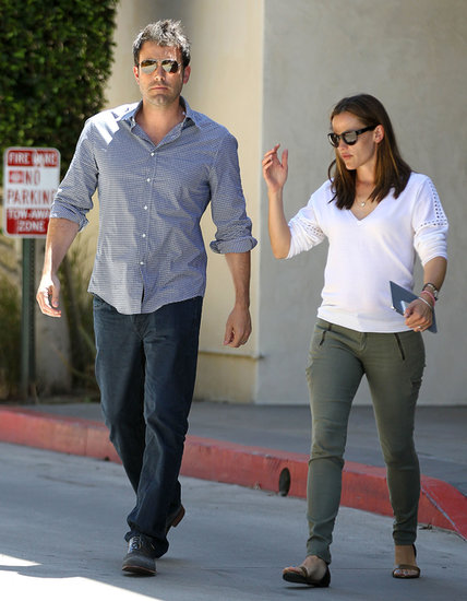 Ben Affleck and Jennifer Garner ran errands together.