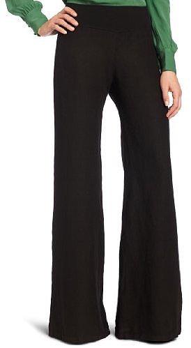 Fresh Laundry Women's Plus Wide Leg Linen Pant