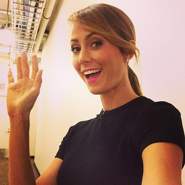 Stacy Keibler gave a smile and wave while stopping by the set of Good Morning America. Source: Instagram user goodmorningamerica