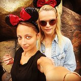 Nicole Richie and Kelly Sawyer kept things festive for a day at Disneyland. Source: Instagram user nicolerichie