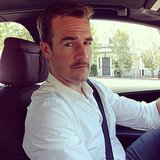 James Van Der Beek showed off his new 'stache and asked followers for their opinion on it. Source: Instagram user vanderjames