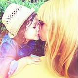 Rachel Zoe gave a sweet smooch to her son, Skyler. Source: Instagram user rachelzoe