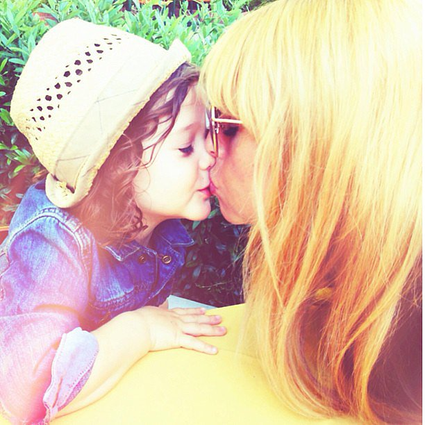 Rachel Zoe gave a sweet smooch to her son Skyler. Source: Instagram user rachelzoe
