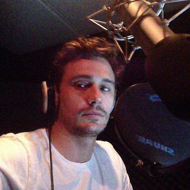 James Franco recorded an audiobook. Source: Instagram user jamesfrancotv
