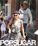 Beyoncé Knowles, Jay Z, and their daughter Blue Ivy Carter went to lunch in Toronto, Canada.