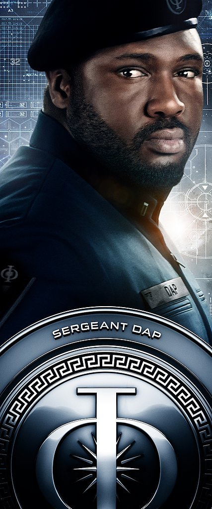 Nonso Anozie as Sergeant Dap in Ender's Game.