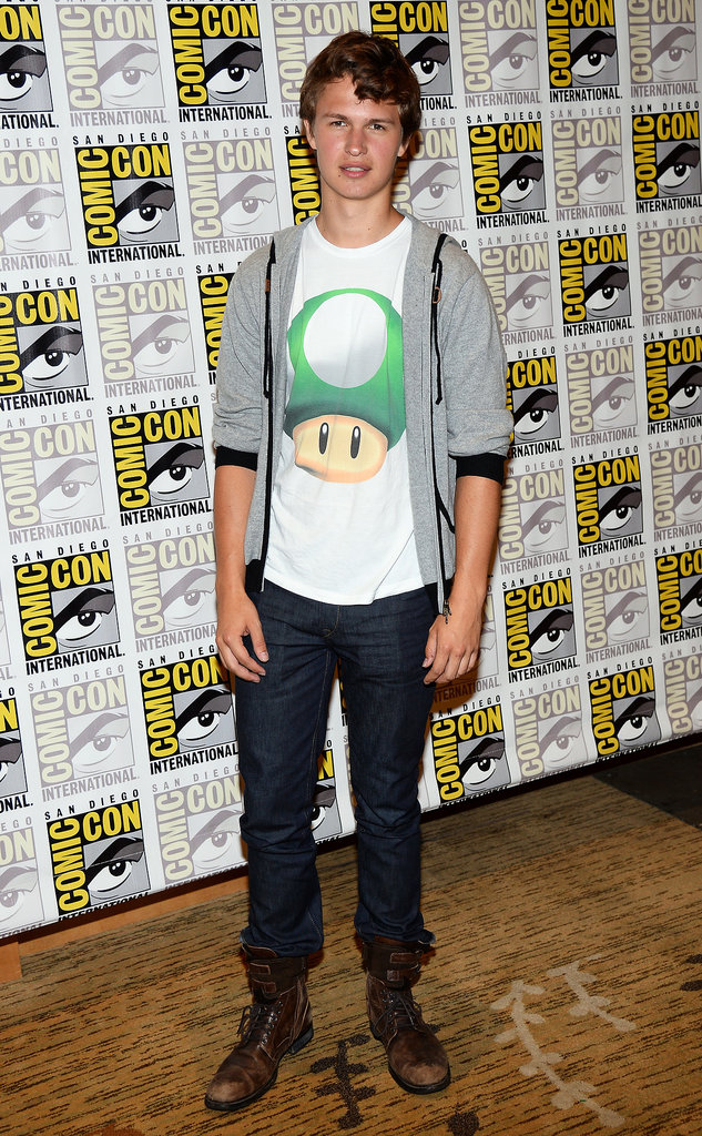Divergent star Ansel Elgort attended the film's Comic-Con panel.