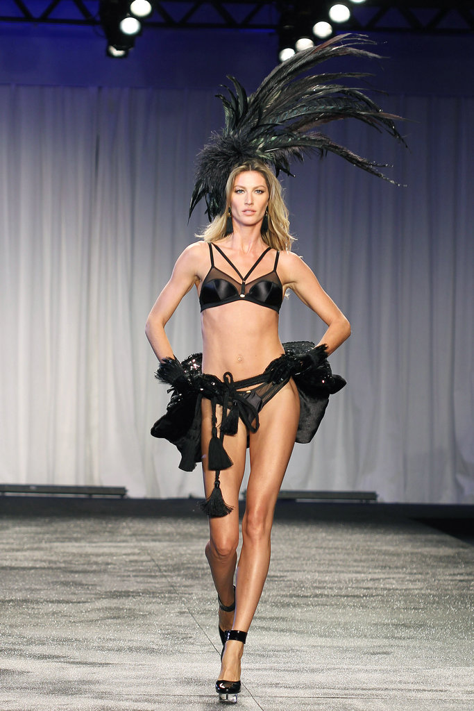 Gisele hit the runway in a skimpy outfit in May 2011.