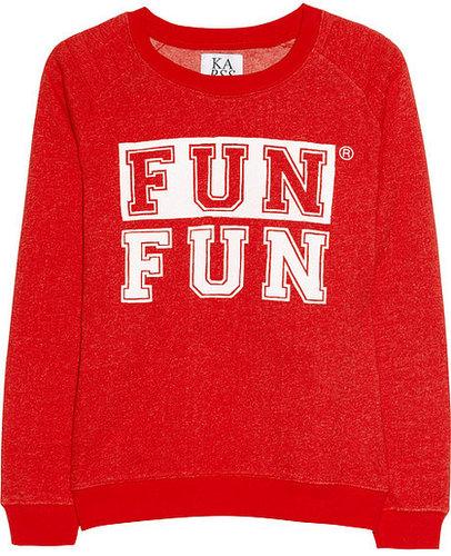 Zoe Karssen Fun Fun cotton-blend terry sweatshirt