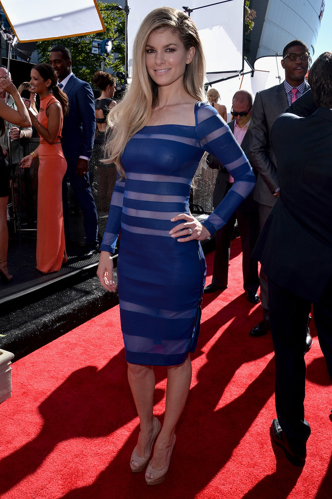 Marisa Miller smoldered in a Catherine Malandrino illusion sheath on the ESPY Awards red carpet.
