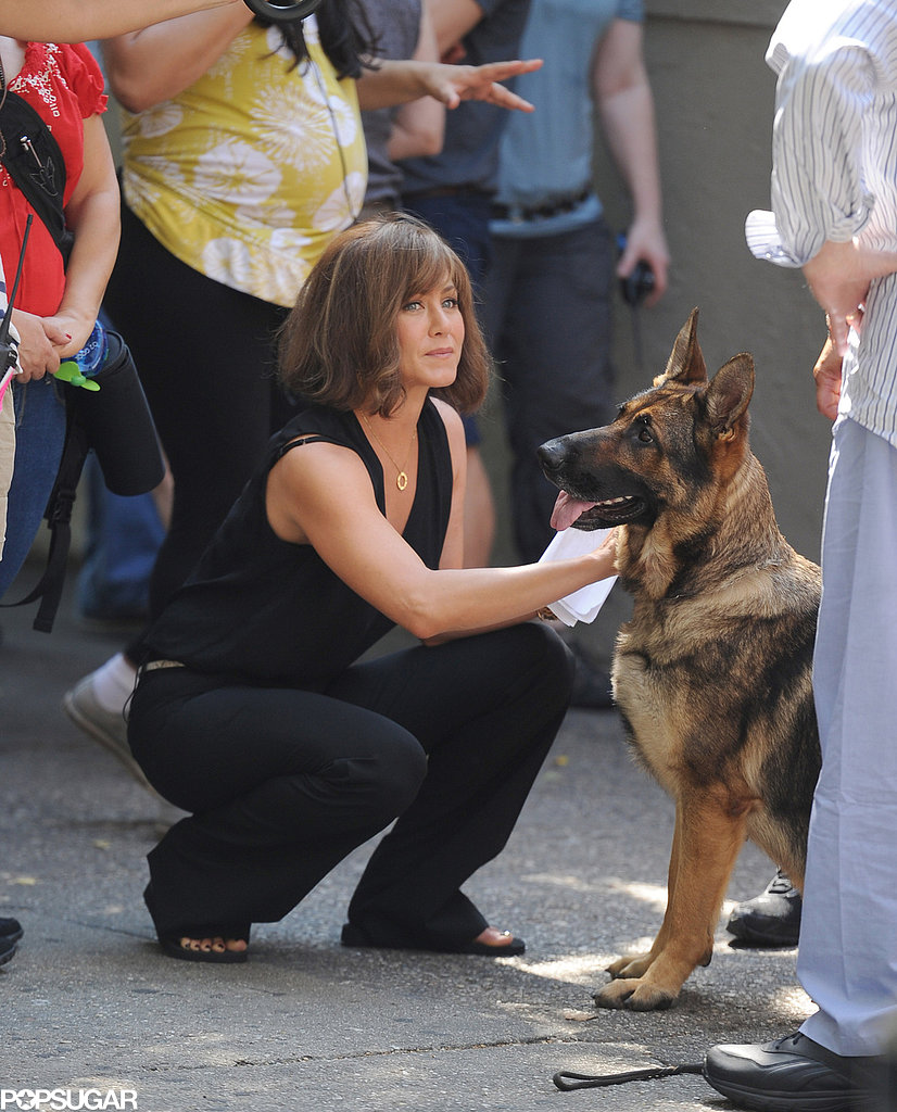 Jennifer Aniston shot Squirrels to the Nuts in NYC with a dog.