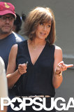 Jennifer Aniston joked around on the NYC set of Squirrels to the Nuts.