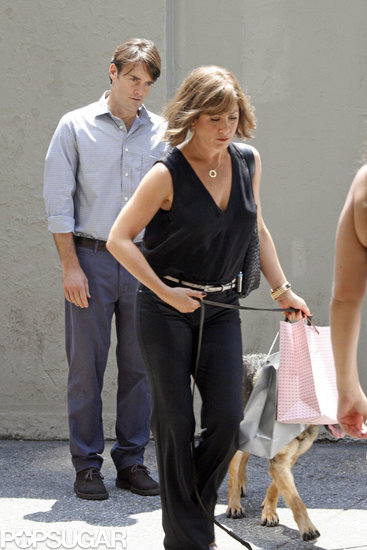 Jennifer Aniston and Will Forte shot Squirrels to the Nuts in NYC.