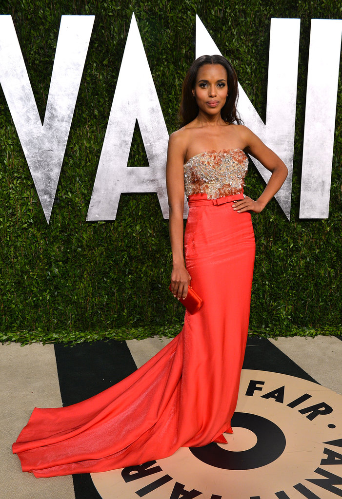 Our jaws literally dropped when we saw Kerry hit the red carpet in this stunning, embellished Miu Miu gown at this year's Vanity Fair Oscar party.