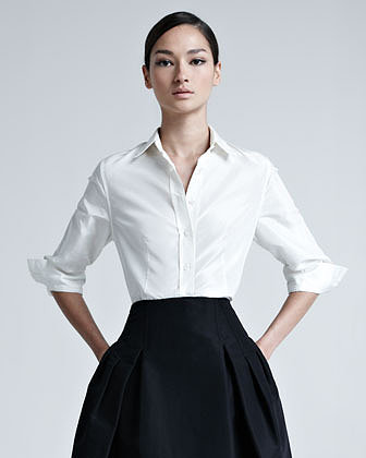 Carolina Herrera Silk Taffeta Shirt