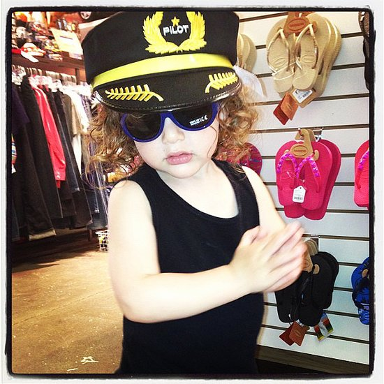Skyler Berman went shopping with his mom — and got a little accessorized in the process. Source: Instagram user rachelzoe