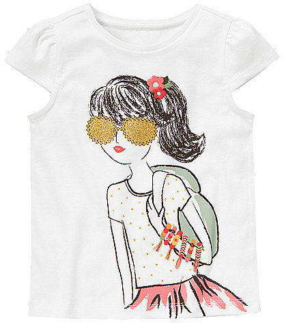 Glitter Sunglasses Girl Tee