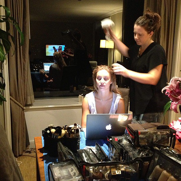 Whitney Port got her hair and makeup done in Sydney. Source: Instagram user whitneyeveport