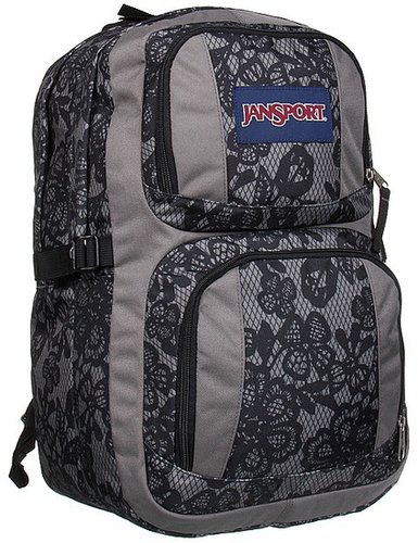 JanSport - Merit (New Storm Grey/Black Lacis) - Bags and Luggage